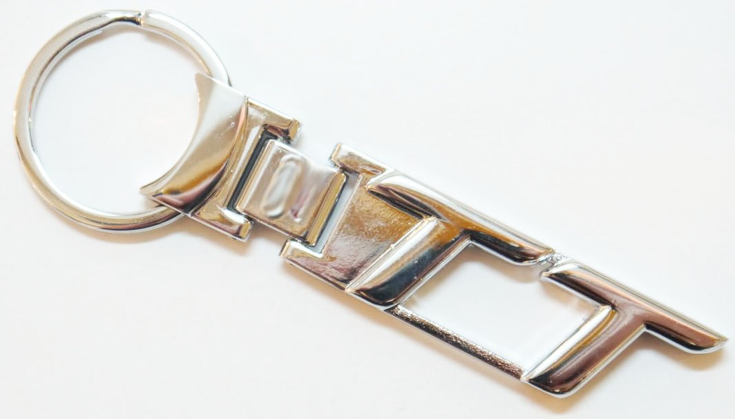 Solide Métal TT porte-clé Chrome Audi