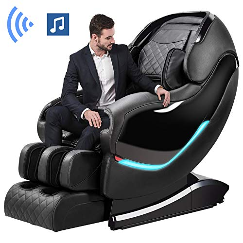 Massage Chair by OOTORI,3D SL-Track Thai Yoga Stretching Zero Gravity Massage Chair,Full Body Shiatsu Massage Chairs Recliner with Tapping, Heating and Foot Roller Massager (Black) (Massage Chair For Kids)