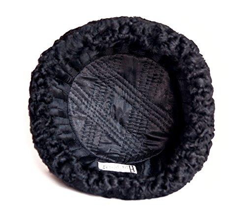 Karakul Astrakhan Fur Sheepskin Ushanka Hat. Black. 63 by Ushanka company (Image #3)