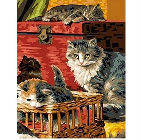 Puzzle 1000 Piezas Gato Con Gatitos Arte De Pared ...