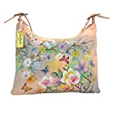 Anuschka Handpainted Leather Slim Large Hobo-Japanese Garden
