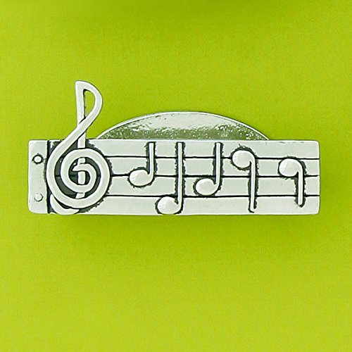 Music Notes Pewter Business Card Holder