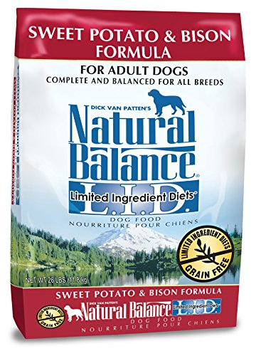 Natural Balance L.I.D. Limited Ingredient Diets Dry Dog Food, Grain Free, Sweet Potato & Bison Formula, 26-Pound by Natural Balance