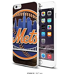 Wishing MLB New York Mets Baseball,Cool iPhone 6 - 4.7 Inch Smartphone Case Cover Collector iphone TPU Rubber Case White [By PhoneAholic]