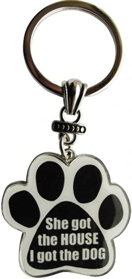 Paw Print Key Chain Fob Got Dog