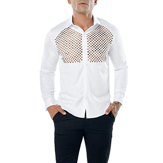 Blusa de Hombre de BaZhaHei, Ropa de Hombre Camisas para Hombre Casual de Manga Larga