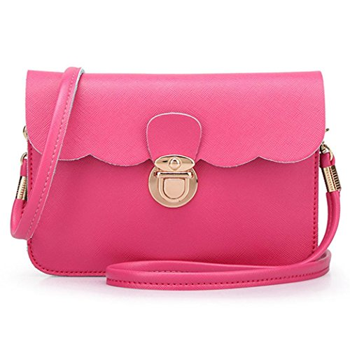 Hobo Clutch Tote Women Shoulder Leather Hot Handbag Pink Bag Messenger Fahsion qXPwxIw