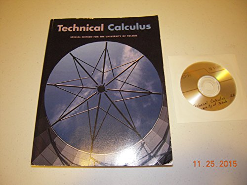 Technical Calculus (Special Edition for the University of Toledo)