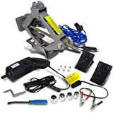 Spec-D Tuning EJ-A20H 2 Ton Electric Scissor Lift Jack W/ Impact Wrench Tire Change For Truck Vehicle