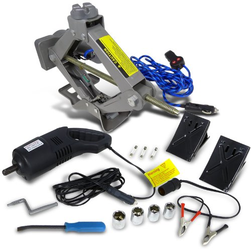 Spec-D Tuning EJ-A20H 2 Ton Electric Scissor Lift Jack W/ Impact Wrench Tire Change For Truck Vehicle (Cordless Power Scissors compare prices)