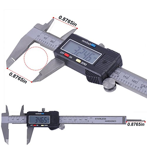 Digital Caliper Electronic Gauge Stainless Steel Tool Kit 150mm/6inch Micrometer by SisterYou (Image #1)