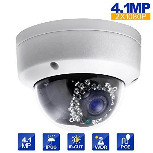 Dome Indoor Camera Lens (Eziview IP Camera 4.1MP 4mm Lens 2688X1520 Dome Network Camera Outdoor Indoor Camera CCTV Camera WDR Motion)