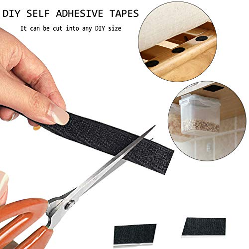Couch Cushions Self Adhesive Tapes, 60 Pcs Hook Loop Strips with Adhesive Non Slip Cushion Pad for Reduce Couch Cushions Sliding, 30 Pairs Double-Side Non Slip Pads (7 x 1 inch)