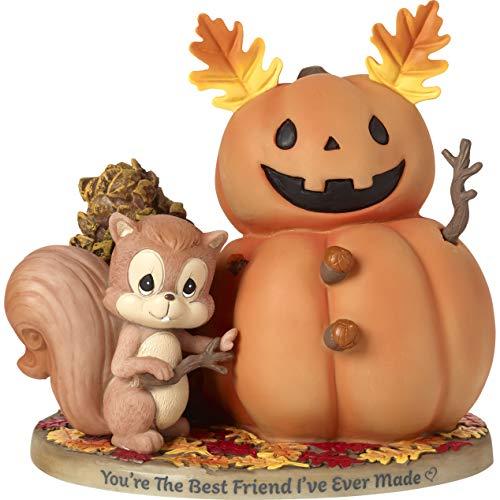 Precious Moments Bisque Porcelain Squirrel and Pumpkin Friend Figurine, Multi]()