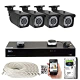 8 Channel H.265 4K NVR 5MP 1920p POE IP Camera System, (4) Bullet & (4) Dome Varifocal Zoom HD Security Camera - H.265 (Double Recording Data and Enhance Picture Quality Compared to H.264)