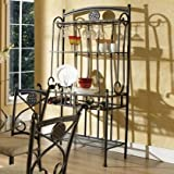 Storage Baker's Rack Made of Stainless Steel With Glass in Black Color Will Bring Charming Feeling In Your Kitchen Make it Simply Organized