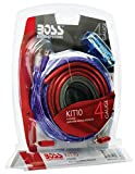 amp wires - BOSS Audio KIT10 4 Gauge Amplifier Installation Wiring Kit
