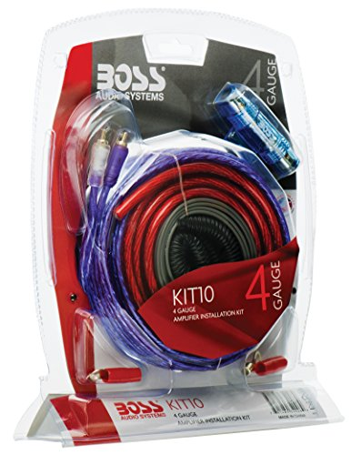 BOSS Audio KIT10 4 Gauge Amplifier Installation Wiring Kit (Car Amp Power Audio)