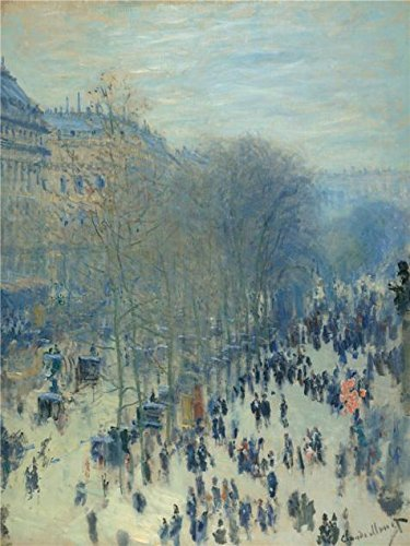 Oil Painting 'Claude Monet,Boulevard Des Capucines,1873-1874', 10 x 13 inch / 25 x 34 cm , on High Definition HD canvas prints is for Gifts And Basement, Bed Room And Garage Decoration