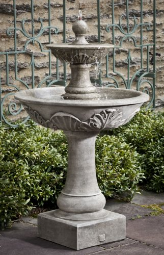 Campania International FT-191-AS Acanthus Two Tier Fountain, Alpine Stone Finish ()