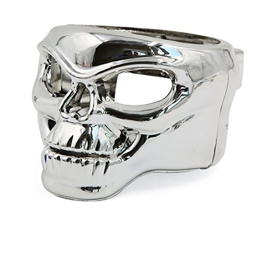 DealMux Skull Shape Car Auto Vent Mount Cup Drink Can Bottle Holder Silver Tone