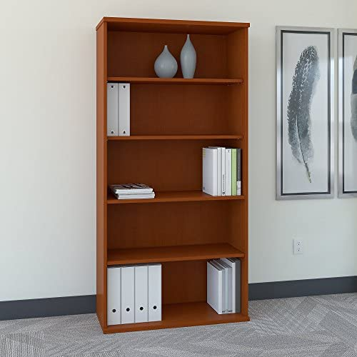 Bush Business Furniture Series C 36W 5 Shelf Bookcase in Auburn Maple