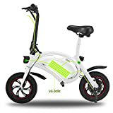 ncient Wireless Smart E-Bike 350W 36V Folding Electric Bicycle with 12 Mile Range Cruise Control / APP Speed Setting (White)