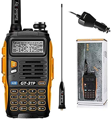 1 Programming Cable 5 Remote Speakers Dual Band 136-174//400-520 MHz 8W with High Gain Antenna Upgraded Chip 5 Pack Baofeng Pofung GT-3TP Mark-III Tri-Power 8//4//1W Two-Way Radio Transceiver Orange and Black 5Pack GT-3TP+1 Cable+5 speakers