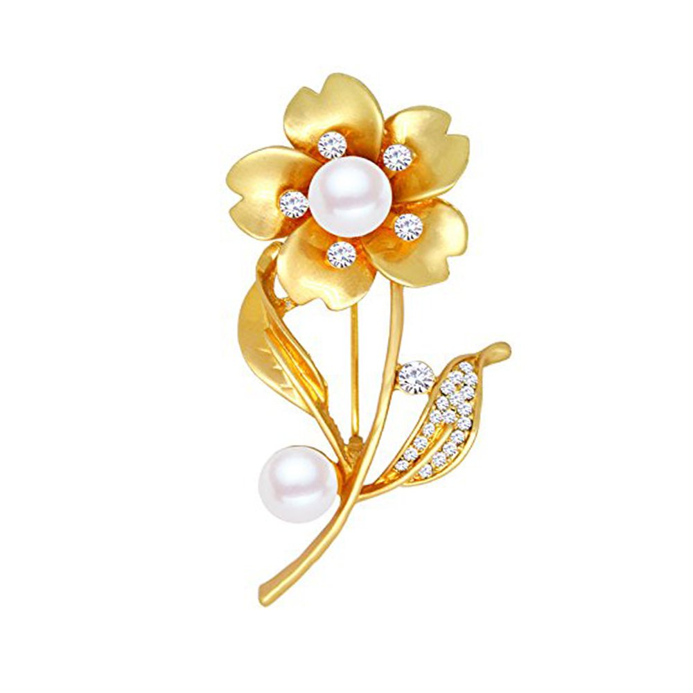 51476bdd2 Amazon.com: Women's Gold Flower Brooch Pin - Fashion Sunflower Tulip  Brooches Pin for Dresses (silver): Jewelry