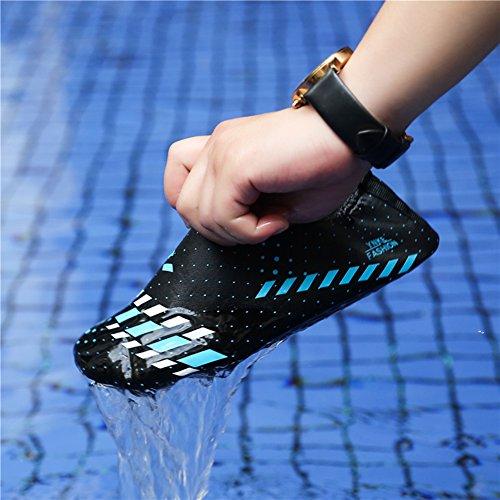 L-RUN Unisex Wasser Schuhe Barfuß Haut Schuhe für Dive Surf Swim Beach Yoga Grau
