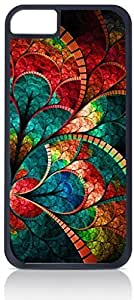 Stained Glass Flower Petals Iphone 6 plus (5.5) Rubber DOUBLE LAYER PROTECTION black case - compatible with Iphone 5 6 plus (5.5)