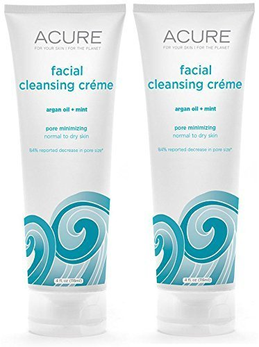 Acure Organic Mint and Argan Oil Facial Cleansing Creme W...