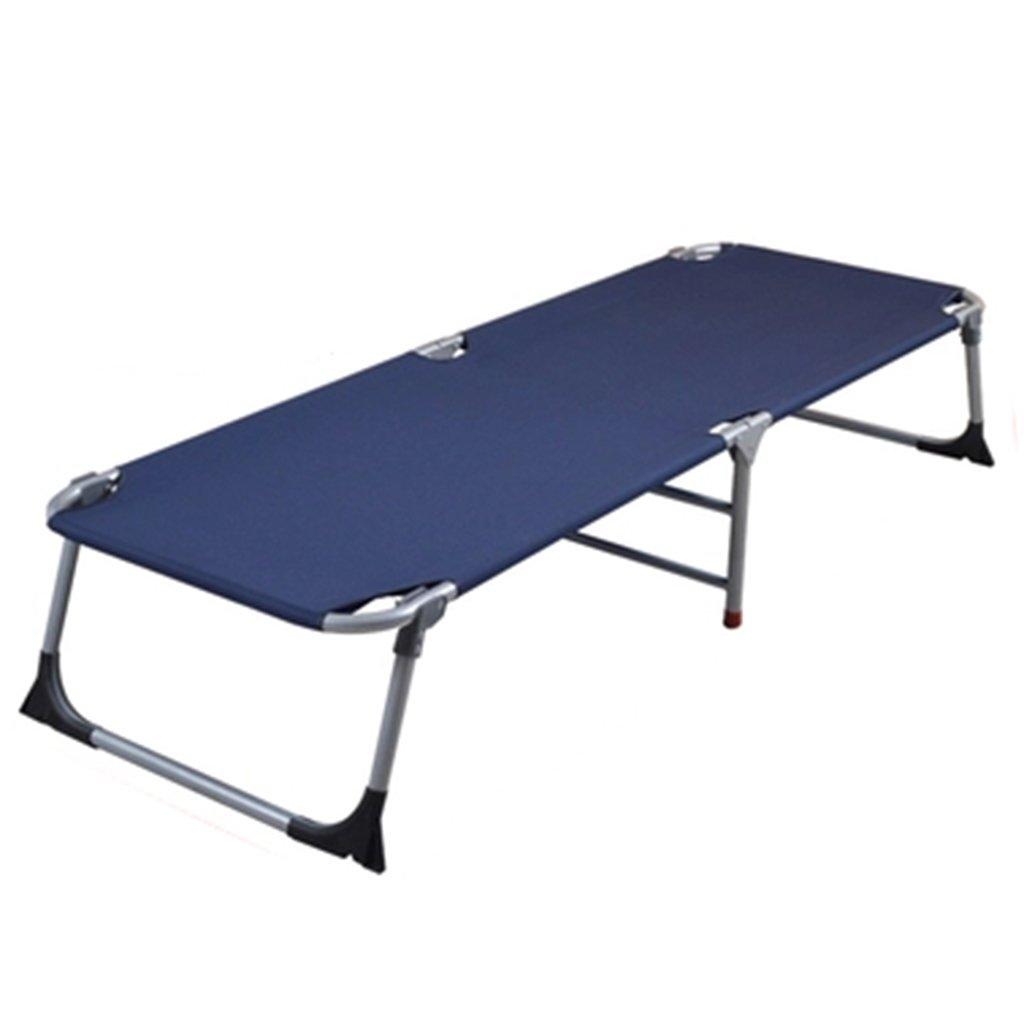 Verstärktes Büro Klappbett Einzelbett Siesta Siesta Bett einfaches Tuch Bett Camping Bett begleitendes Bett ( Farbe : Bronze )