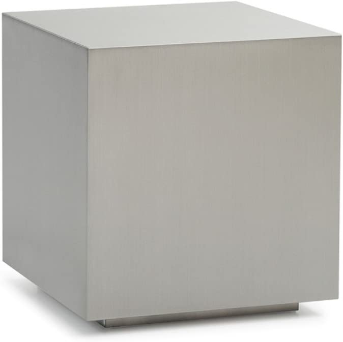 Limari Home Kolton End Table, Brushed Stainless Steel