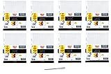 Five Star Filler Paper, Graph Ruled, Reinforced, Loose-Leaf, 11 x 8 1/2'' Sheet Size, 100 Sheets/Pack, 8 Pack (17012) - Bundle Includes Universal Letter Opener … (8 Pack Bundle)
