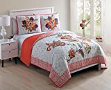 red and white chevron quilt - Twin Quilt Paisley Floral with Embroidered Filigree Coral Red Chevron Bed Set