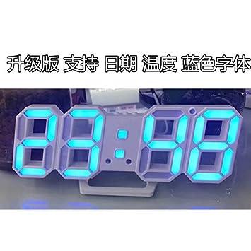 Y-Hui - Reloj electrónico de Escritorio con Alarma Digital Estéreo, Reloj Despertador Digital para Cajón, Fuente de Alimentación de Campo A: Amazon.es: ...