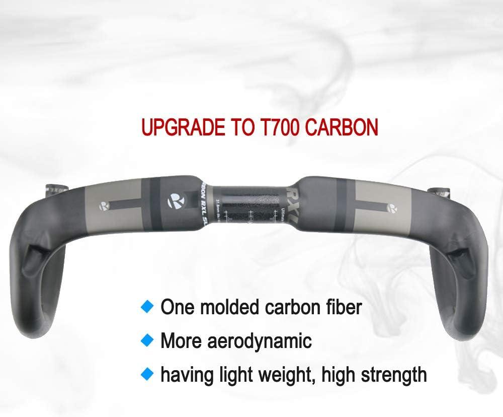 RXL SL Manillar de Carretera Ultraligero Bicicleta Carretera Carbono Manillar 400//420//440mm Drop Bar 31.8mm Manillar de Viento