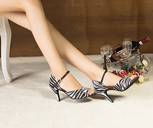 femme Salle 8 heel 5cm 35 bal blanc Leopard de Miyoopark 1PdxZtt