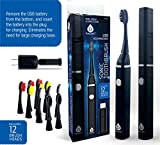 Cheap Pursonic Professional Removable USB Rechargeable Sonic Toothbrush With 2 Minute Timer, 2 Hour Quick Rapid Charge with 12 Brush heads