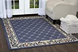 Home Dynamix Premium Aydin Area Rug 3'7'' x5'2 Border Country Blue