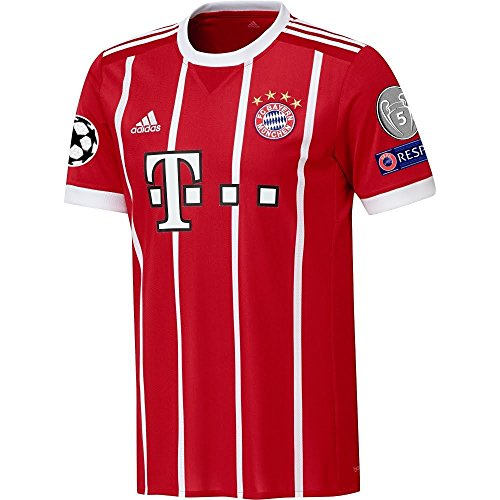 adidas Bayern Munich Home Jersey 2017/2018 + Starball, Respect & Trophy Patch - XL ()