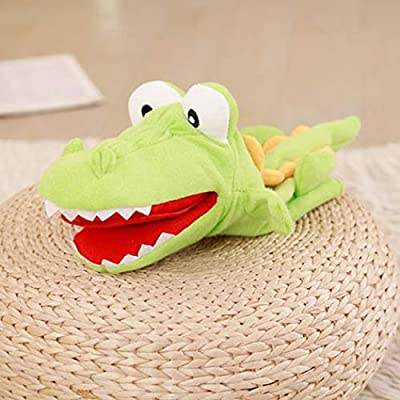 Hand Puppet Cartoon Lovely Crocodile Plush Puppet Storytelling Toy for Kids: Everything Else