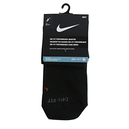 Nike 2016 Dri-Fit Performance Quarter Socks Mens Sports Ankle Socks Black Medium (5