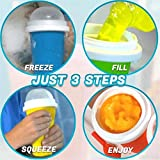 Quick-Frozen Smoothies Squeezy Peasy Slushy Cup Ice Cream Maker Cooling Bottl, Milk Shake Maker Cooling Cup Squee - Smoothie Kit