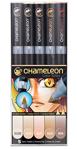 Chameleon Art Products Skin Tones, 5-Pen Set