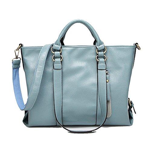 Bolsos De Moda Para Mujer, Bandolera Simple, Multifunción, De Gran Capacidad, Salvaje, De Compras Blue