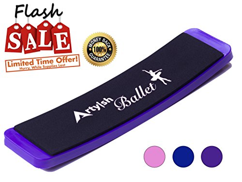 Artyish Turning Board for Ballet Dance | Turn Board Pirouettes Board for Dancers | Improve Balance and Turns | Training Practicing Tool-Purple (Dance Board)