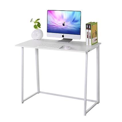 Escritorio compacto plegable de Dripex, para ordenador portátil, escritorio, oficina,