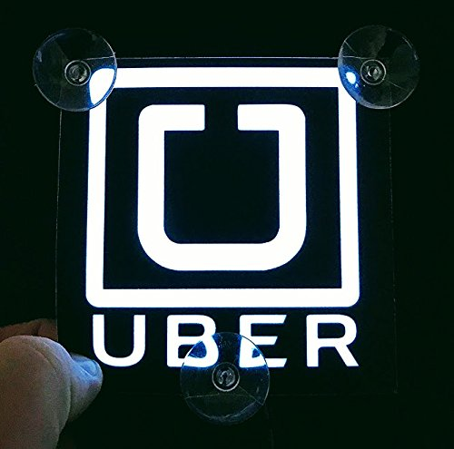 Decal Logo Away (Uber Glow Driver Sign USB Decal Electroluminescence Lit (SUCTION CUPS) (2 DAYS DELIVERY))